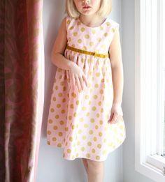 Pink and Gold Geranium Dress by madebyrae, via Flickr