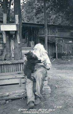 "1930's real life ""grizzly Adams"" !"