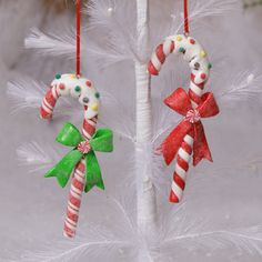 Shelley B Home and Holiday - Christmas Candy Cane with Frosting Ornament set of 2, $7.75 (http://shelleybhomeandholiday.com/christmas-candy-cane-with-frosting-ornament-set-of-2/)