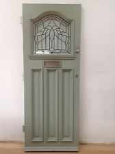 1920s/1930s front door with beveled clear glass in south west London ...