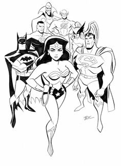 Justice League by Bruce Timm.
