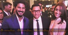 #DulquerSalmaan Receives An Award From Aamir Khan!