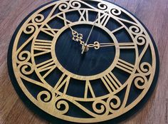 """Купить Настенные часы """"Classic"""" - черный, часы, часы настенные, часы ручной работы"""