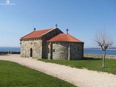 Ermita de la playa de la Lanzada (Pontevedra)