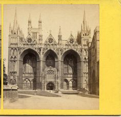 G W WILSON ABERDEEN SCOTLAND STEREOVIEW PETERBOROUGH CATHEDRAL WEST FRONT ENG