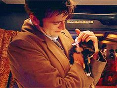 The Doctor is petting kittens.        Arguments have been declared invalid and will be blatantly ignored.