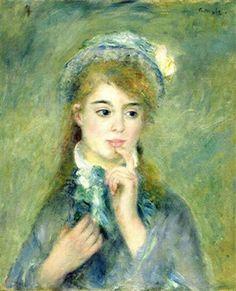 L'ingénue (1874) by Auguste Renoir (silartetaitconte)