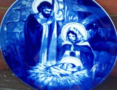 Vintage AVON 1991 The Holy Family  Collector Plate by PaintedOnPlaques, $29.95