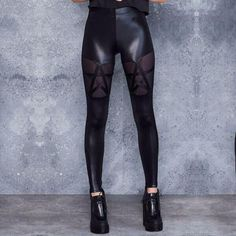 Leather Pants, Faux Leather Leggings, Leggings Are Not Pants, Latex, Mesh, Stockings, Fashion, Gothic, Leather Tights
