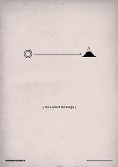 O Designer Matteo Civaschi criou uma coleção de cartazes de filmes em pictogramas.