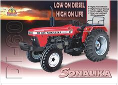 #SONALIKA DI 60 #Tractor has the comfort and convenience features with 60 horsepower.. http://bit.ly/1XTKmpV