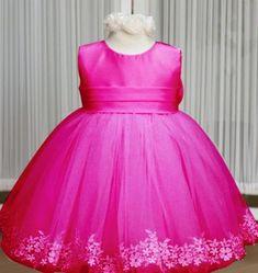 PINK Ball Gown Wedding Flower Girls Dress-PINK Balloon Type Dress for Toddler Girls-Elegant High Quality Ball Gow Dress