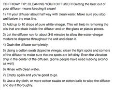 cleaning your diffuser