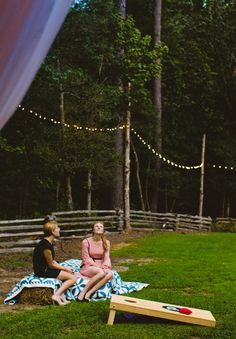 Rustic DIY Wedding by Carolyn Scott Photography (also haybails good idea for random seating throughout reception)