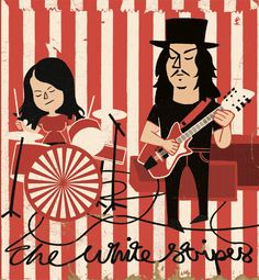 The White Stripes by Paul Thurlby on http://www.reykjavikboulevard.com/paul-thurlby/