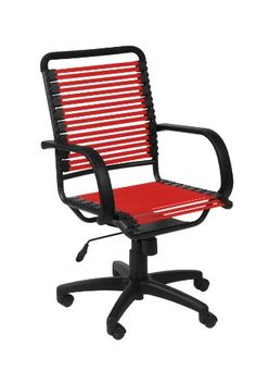 Swivel Office chair - Pin it :-) Follow us :-)) AzOfficechairs.com is your Office chair Gallery ;) CLICK IMAGE TWICE for Pricing and Info :) SEE A LARGER SELECTION of  swivel office chair at  http://azofficechairs.com/?s=swivel+office+chair -  office, office chair, home office chair - Euro Style Bungie Flat High Back Office Chair, Red/Graphite Black « AZofficechairs.com