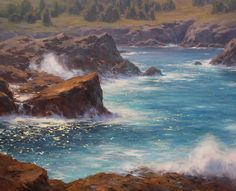 Monterey Sparkle by Jesse Powell Oil ~ 44 x 54