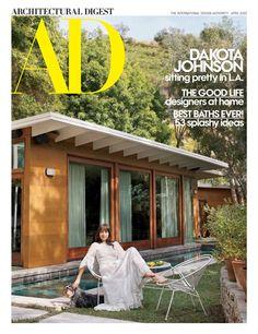 Fifty Shades, Shades Of Grey, Dakota Johnson, Architectural Digest, Midcentury Modern, Johnson House, Hollywood Hills Homes, Solis, Ponds Backyard