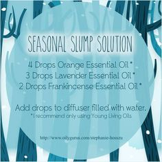 Young Living Essential Oils: Seasonal Depression Diffuser by natalie-w Essential Oils For Add, Essential Oil Diffuser Blends, Essential Oil Uses, Doterra Essential Oils, Natural Essential Oils, Young Living Essential Oils, Yl Oils, Doterra Diffuser, Essential Oils Depression