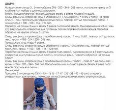 Синяя шапочка и шарфик | Вязание для девочек | Вязание спицами и крючком. Схемы вязания.