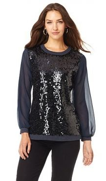 Dress it up with my sequined terry pullover! DG2 on HSN- fabulous for all the dress-ups of your grown-up life. Go DIANE GILMAN.