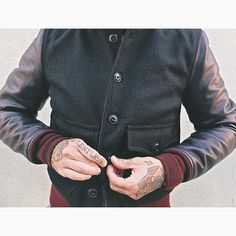 092fec0e87 Because buttons. And wool. And pebbly leather. And jackets. I heart jackets…