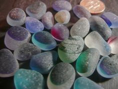 Two dozen small sea glass multis by jazomir on Etsy, $40.00