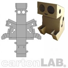 Carton Lab Robot do it yourself :)