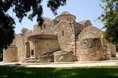 The unique Aggeloktisti church in Larnaca, Cyprus