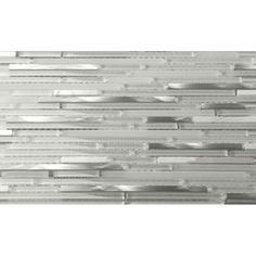 The smooth combination of polished white marble, brushed stainless steel and clear polished glass with white frosted glass is absolutely astonishing. Perfect for complementing your cabinetry, this backsplash tile updates your home with elegance.