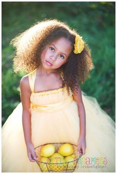 Hello Yellow Flower Girl Tutu Dress by littledreamersinc on Etsy