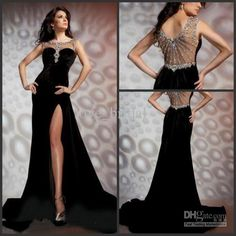 Wholesale 2013 Pageant Dresses Sheath Black Bateau Beading Crystals Chapel Train Chiffon Prom Long Homecoming Formal Gown Shops, Free shipping, $156.8-173.6/Piece | DHgate