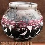 Kokopelli Horse Hair Native American Indian Pottery by artist Arlene Begay $29.99
