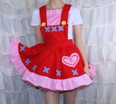 Reese Animal Crossing New Leaf Pinafore Apron Costume by mtcoffinz, $120.00