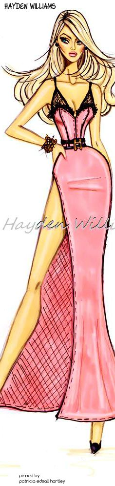 fashionillustr.quenalbertini: Candice Swanepoel by Hayden Williams