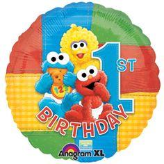 Baby Sesame Street 1st Birthday Balloons available at www.partyexpressinvitations.com