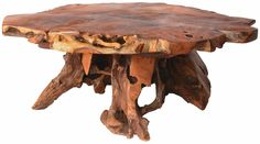 rustic tree stump table