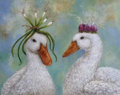 L'Assommoir Duck Royalty by Vicky Sawyer