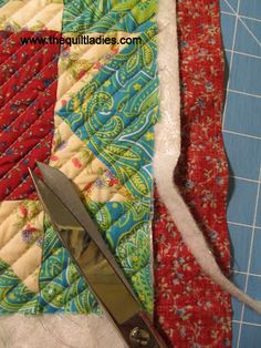 Self-Binding Quilt Tutoria So easy!