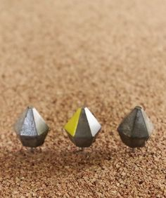 Diamond Cement Push Pins submitted to InspiratinDIY.com