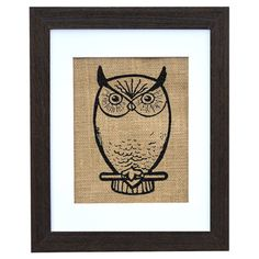 Perfect as a delightful focal point or in an eye-catching vignette, this hand-pressed burlap print adds a classic touch to your walls. Made in the USA.
