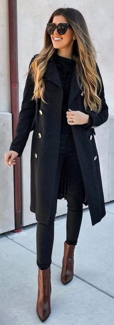 30 pretty outfit ideas for this winter - Mode - Outfits Trendy Fall Outfits, Pretty Outfits, Winter Outfits, Casual Outfits, Trendy Hair, Winter Clothes, Winter Dresses, Long Dresses, Spring Outfits