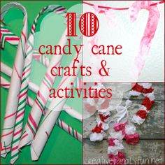 10 Candy Cane Crafts & Activities ~ Creative Family Fun