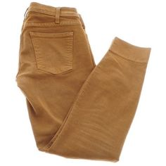 Pre-owned Camel ankle jeans (€59) ❤ liked on Polyvore featuring jeans, pants, bottoms, trousers, brown, current elliott jeans, tear jeans, short pants, ankle length jeans and ankle jeans
