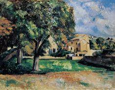 Paul Cézanne - Bäume im Park von Jas de Bouffan