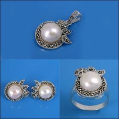 925 Sterling Silver Marcasite Set Jewelry (Item ID: 100601, End Time : N/A) - Market House Direct