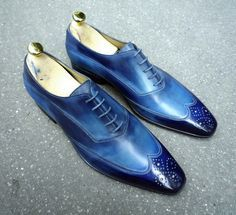 Caulaincourt shoes - White - cyclades blue