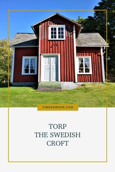 Maybe you have seen the word torp, croft, in your Swedish genealogy. An ancestor may have been a crofter, torpare. Or your ancestor was a soldier and lived at a soldier's croft, soldattorp. But what is a Swedish croft? Read about it here! #sweden #genealogy #ancesetry