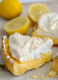 yummy lemon tart need to try it Cake Factory, Camembert Cheese, Bakery, Vegan Recipes, Food And Drink, Pie, Sweets, Cooking, Desserts