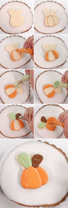 Do you like pumpkins? Do you know how to make adorable pumpkin cookies with a bunny cutter? This tutorial will show you how it's very simple!